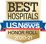 Best Hospitals - US News & World Report Honor Roll 2019-2020 badge